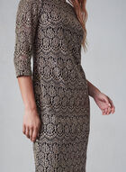 Eliza J - Lace and Sequin Dress, Black