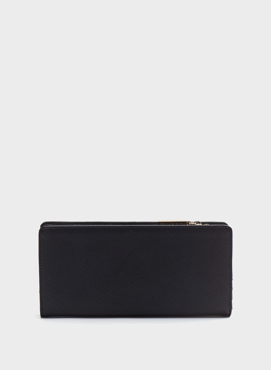 Céline Dion - Faux-Leather Saffiano Print Wallet, Black, hi-res