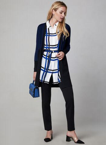 Tunique chemisier à carreaux, Blanc, hi-res,  tunique, chemisier, tartan, ceinture ruban, automne hiver 2019 au
