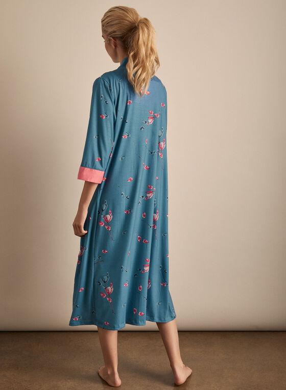 Claudel Lingerie - Pyjama deux pièces floral, Bleu