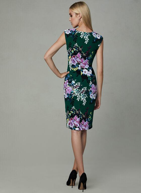 Vince Camuto - Robe fourreau à imprimé floral, Vert, hi-res