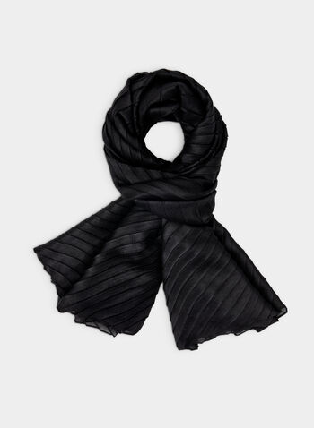 Vince Camuto - Pleated Wrap, Black,  Vince Camuto, wrap, scarf, pleats, fall 2019, winter 2019
