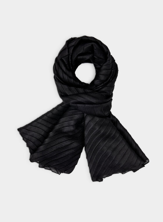 Vince Camuto - Pleated Wrap, Black, hi-res