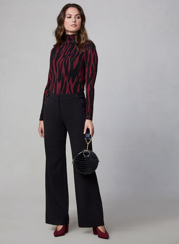 Soho Fit Wide Leg Pants, Black, hi-res,  Soho, wide leg, pants, trousers, high rise, fall 2019
