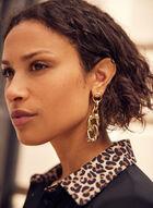 Assorted Link Dangle Earrings, Gold