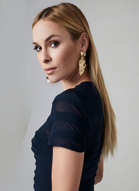 Adrianna Papell - Robe à col illusion, Bleu