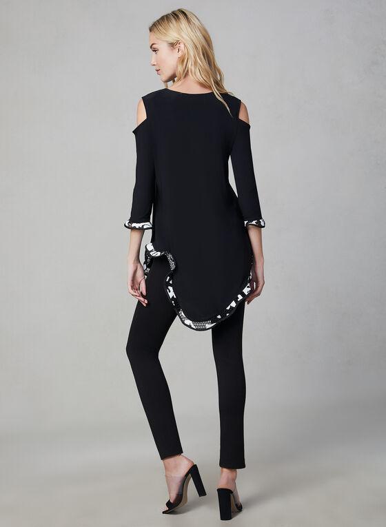 Joseph Ribkoff – Cold Shoulder Asymmetric Tunic, Black, hi-res