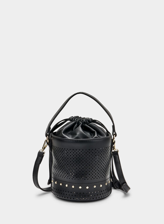 Perforated Bucket Bag, Black