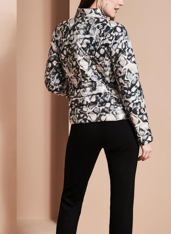 Cero Etage - Printed Faux Down Puffer Coat, Multi, hi-res