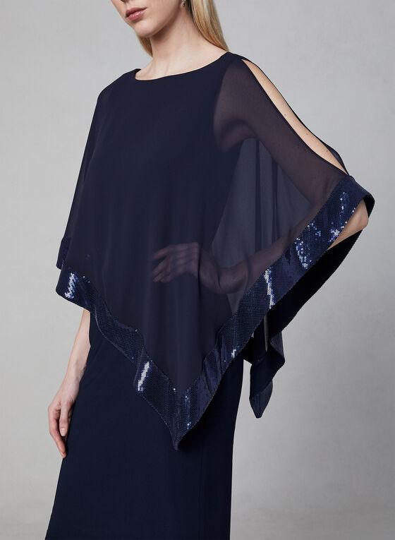 Joseph Ribkoff - Poncho Dress, Blue, hi-res