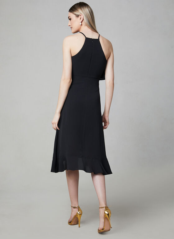 Kensie - Halter Neck Asymmetric Dress, Black