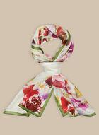 Floral Print Silk Scarf, Multi