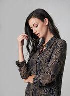 Linea Domani - Snake Print Tunic Top, Black, hi-res