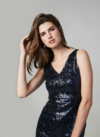 Maggie London – Sequin Mermaid Dress, Blue,  glitter cocktail dress, sequnied dress, sleeveless, mermaid cut, fall 2019, winter 2019