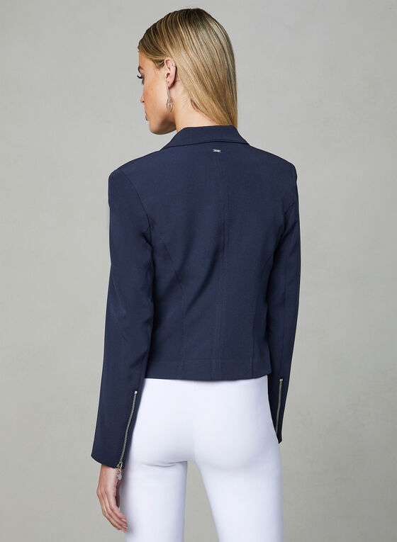 Vex - Blazer à détails zippés, Bleu