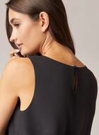 Crew Neck Sleeveless Blouse, Black