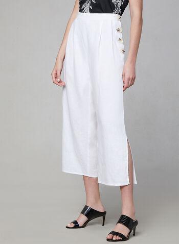 Vince Camuto - Pantalon en lin, Blanc, hi-res