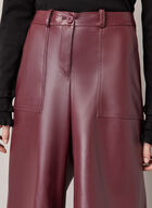 Vegan Leather Wide Leg Pants, Purple