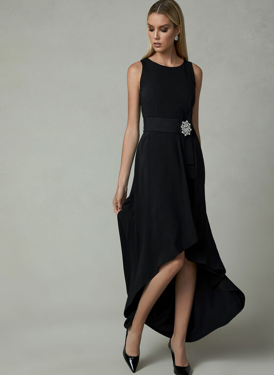 Frank Lyman - High Low Dress, Black, hi-res