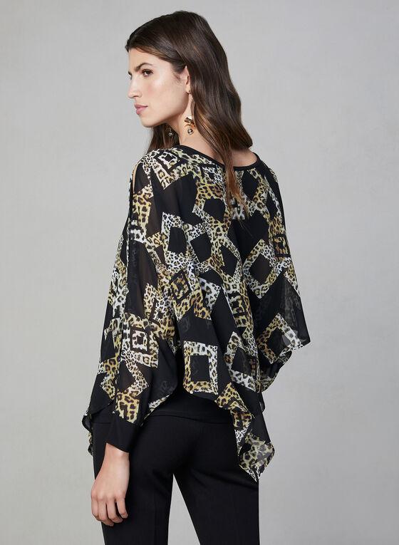 Joseph Ribkoff - Blouse asymétrique motif léopard, Noir, hi-res