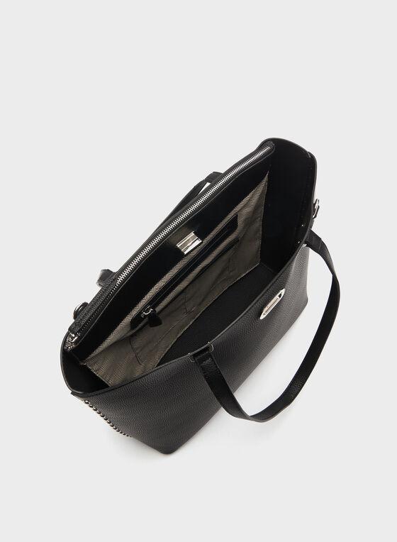 Metal Detail Tote Bag, Black, hi-res