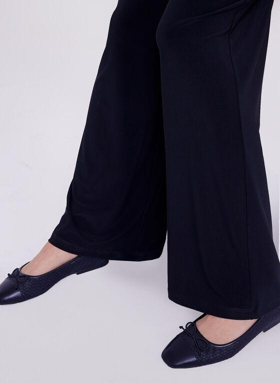 Compli K - Pull-On Wide Leg Pants , Blue, hi-res