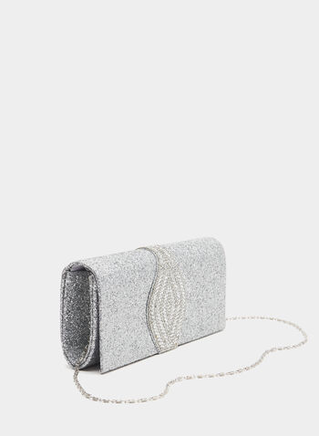 Crystal Design Evening Clutch, Silver, hi-res