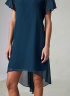 Adrianna Papell - Capelet Back Dress, Blue, hi-res