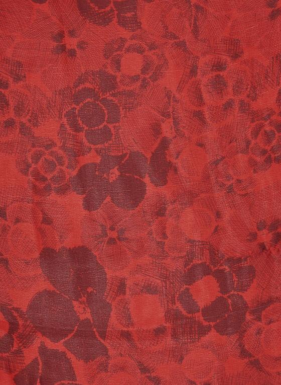 Foulard imprimé floral , Rouge, hi-res