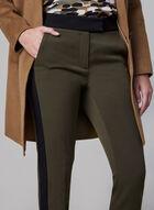 Contrast Trim Pants, Green, hi-res