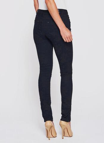 Floral Print Slim Leg Jeans, , hi-res