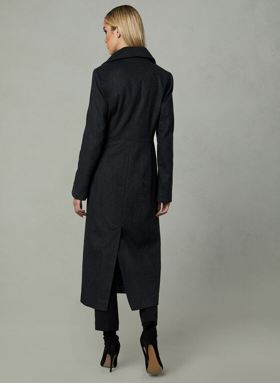 Anne Klein - Long Cashmere Blend Coat, Grey, hi-res