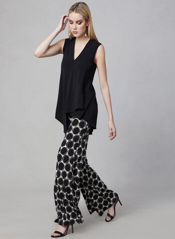 Joseph Ribkoff - Asymmetric Sleeveless Top, Black, hi-res