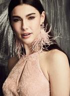 BA Nites - Glitter Lace Mermaid Dress, Pink, hi-res
