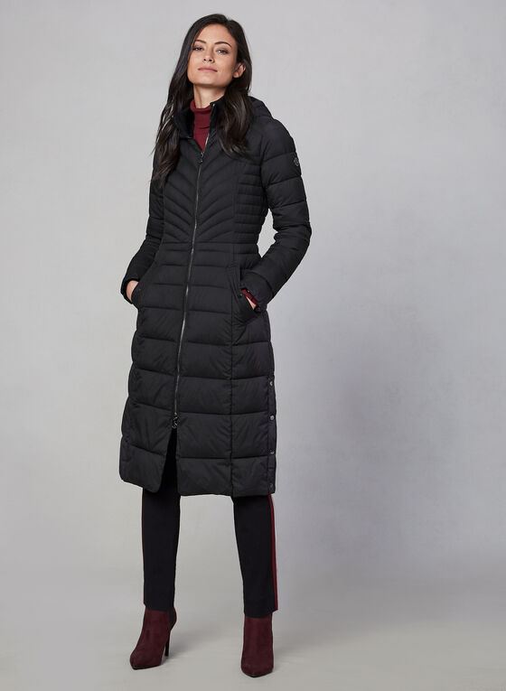 Bernardo - Long Quilted Coat, Black