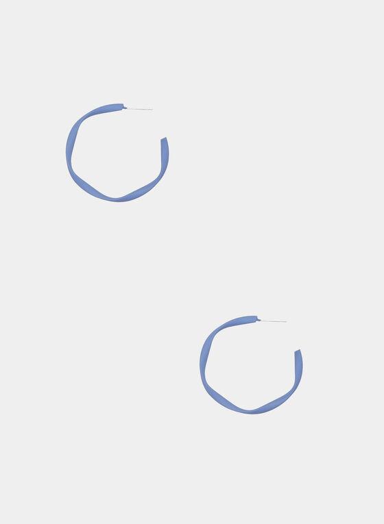 Geometric Hoop Earrings, Blue, hi-res