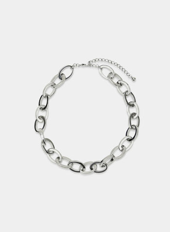 Chain Link Necklace, Silver, hi-res