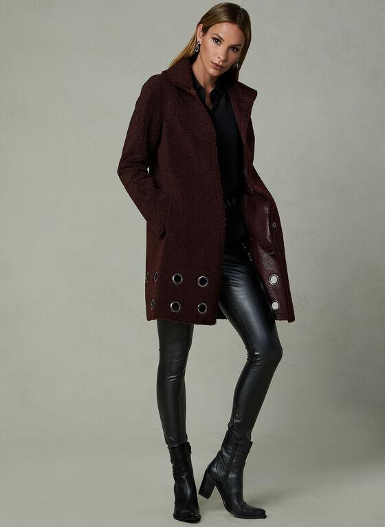 Nikki Jones - Manteau en sherpa à œillets, Violet, hi-res