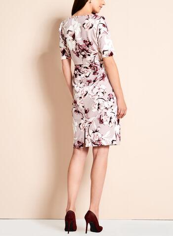 Short Sleeve Floral Print Dress, Multi, hi-res