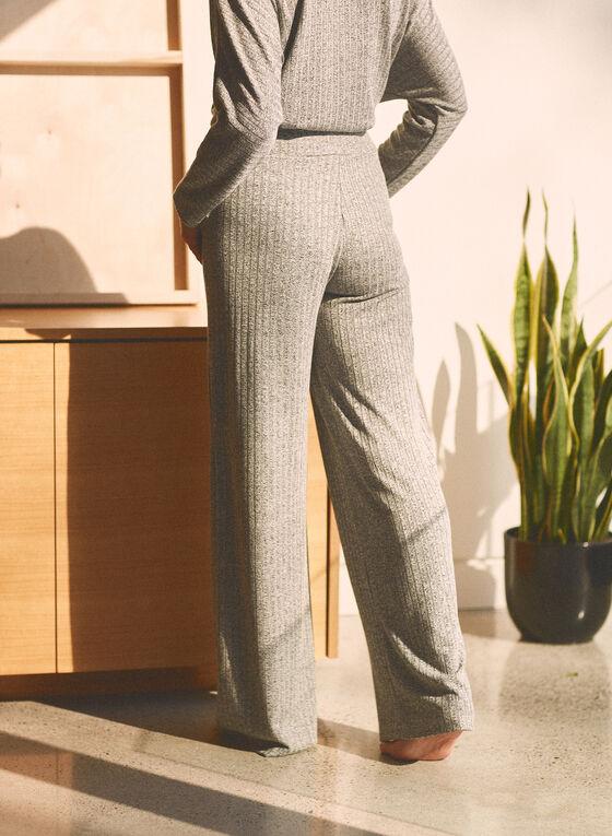 Wide Leg Pull-On Pants, Grey