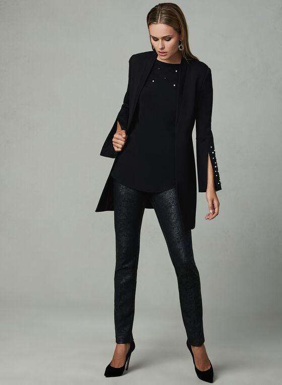 Insight - Distressed Straight Leg Pants, Black