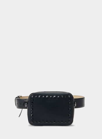 Vince Camuto - Belt Bag, Black,  studs, fall 2019, winter 2019