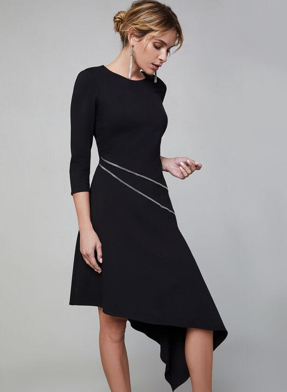 Vince Camuto - 3/4 Sleeve Asymmetric Dress, Black, hi-res