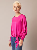 Satin Blouse With Tie, Pink