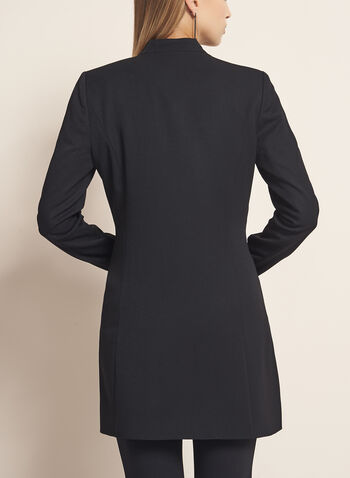 Long Notch Collar Jacket, Black, hi-res