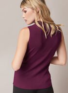 Sleeveless Mock Neck Sweater, Purple