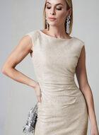Marina - Robe fourreau métallisée, Brun, hi-res