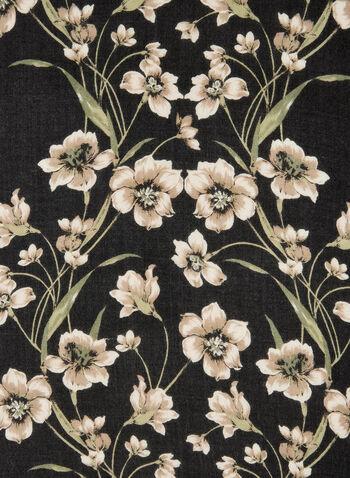 Foulard à imprimé floral, Gris, hi-res,  foulard léger, fleurs, motif, motifs, automne hiver 2019