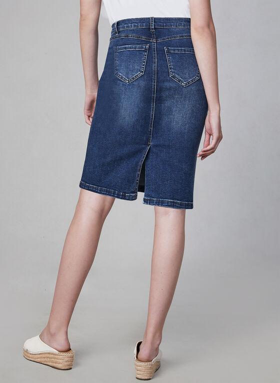 5-Pocket Jean Skirt, Blue, hi-res