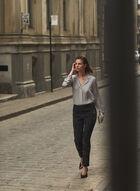 Joseph Ribkoff - Floral Pull-On Jeans, Grey